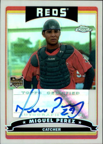 Photo of 2006 Topps Chrome Refractors #342 Miguel Perez AU