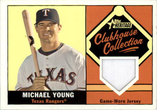 Photo of 2010 Topps Heritage Clubhouse Collection Relics #MY Michael Young