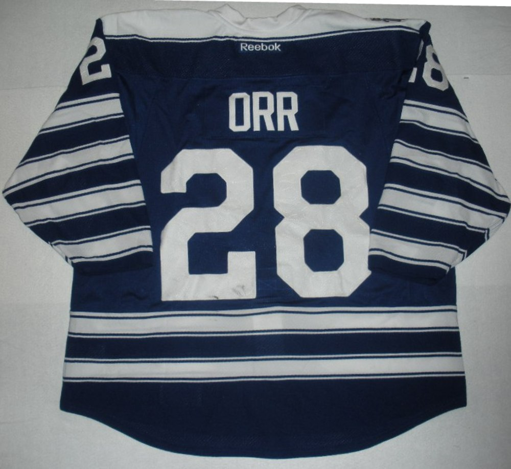 28 Colton Orr - 2014 Winter Classic - Toronto Maple Leafs - Blue Game-Worn  Jersey - Worn in First Period e86c0ea72d4
