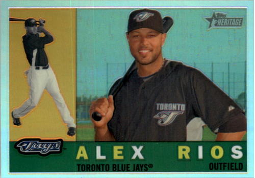 Photo of 2009 Topps Heritage Chrome Refractors #C42 Alex Rios