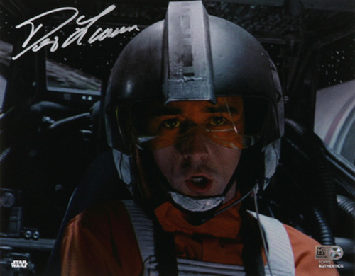 Denis Lawson as Wedge Antilles Autographed In Silver Ink 8x10 Photo