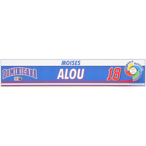 Photo of 2009 WBC: Dominican Republic Game-Used Locker Name Plate - #18 Moises Alou