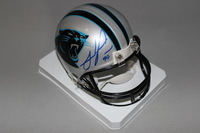 PANTHERS - JULIUS PEPPERS SIGNED PANTHERS MINI HELMET