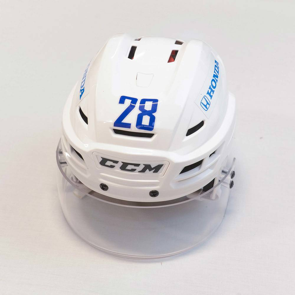 2018 AHL All-Star Challenge Helmet Worn and Signed by #28 Alexandre Grenier