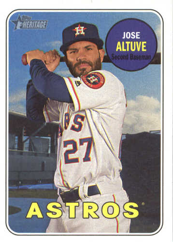 Photo of 2018 Topps Heritage #35 Jose Altuve