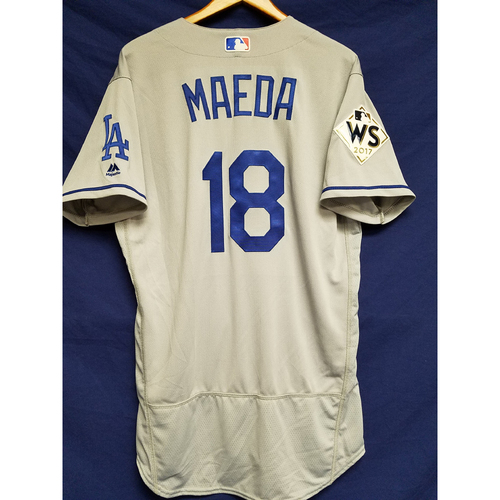 Photo of Kenta Maeda 2017 Road World Series Team-Issued Jersey