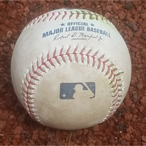 Photo of 2018 Game-Used Baseball: Scott Kingery Outfield Assist