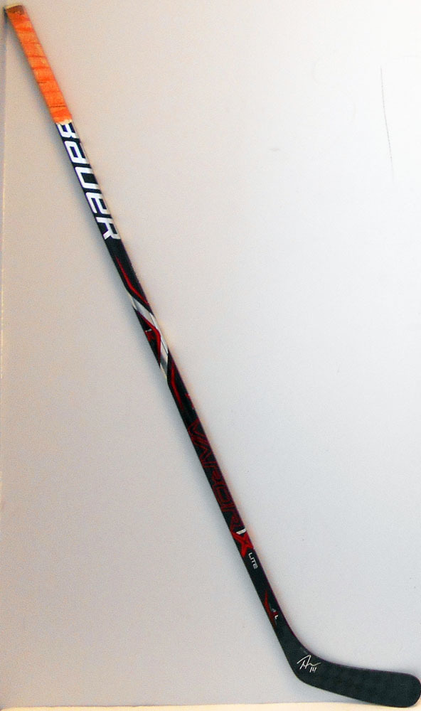 #14 ThomasHickey Game Used Stick - Autographed - New York Islanders