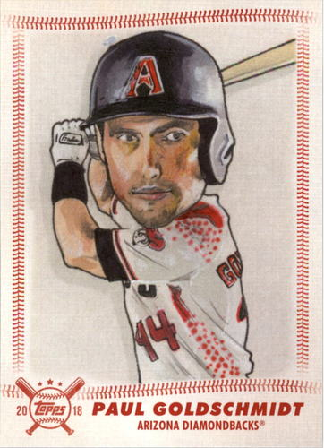 Photo of 2018 Topps Big League Star Caricature Reproductions #SCRPG Paul Goldschmidt