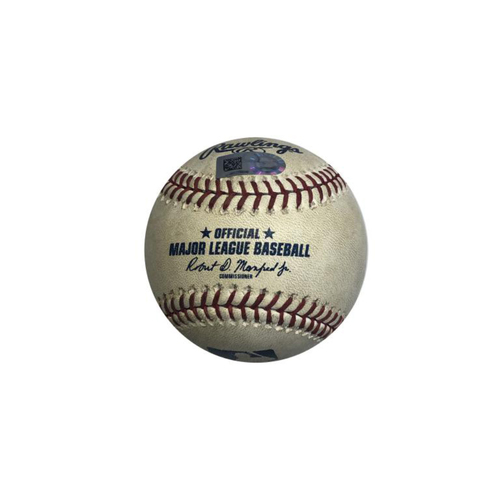 Photo of Game-Used Baseball: 5/27/2018 Pirates vs. Cardinals: Frazier 2 RBI Triple