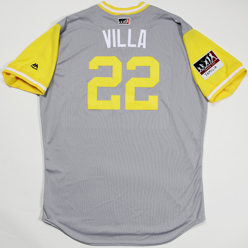 "Photo of Christian ""Villa"" Villanueva San Diego Padres Team-Issued 2018 Players' Weekend Jersey"
