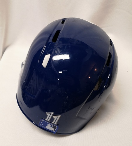 Photo of Authenticated Game Used Helmet - #11 Kevin Pillar (May 23, 18: 0-for-3). Size 7 1/8.