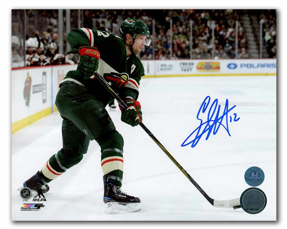 Eric Staal Minnesota Wild Autographed Hockey Action 8x10 Photo