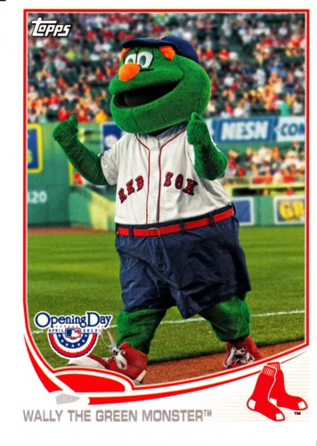 Photo of 2013 Topps Opening Day Mascots #M22 Wally the Green Monster