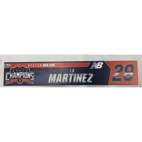 Photo of JD Martinez Game Used April 28, 2019 Locker Tag
