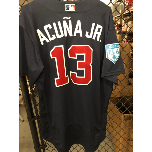 Photo of Ronald Acuna Jr. Game Used Spring Training Jersey