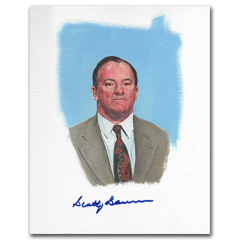 Scotty Bowman Autographed Upper Deck Trading Card Original Artwork - Limited Edition 1/1
