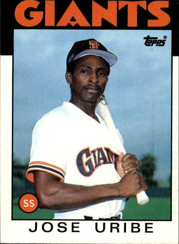 Photo of 1986 Topps #12 Jose Uribe