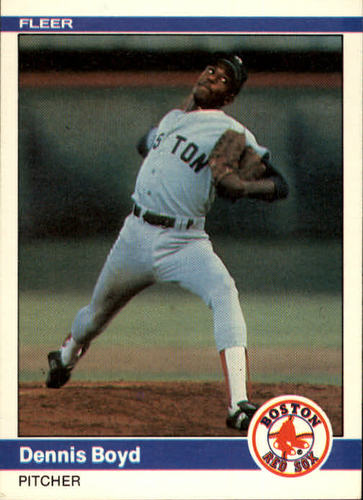 Photo of 1984 Fleer #393 Dennis Boyd