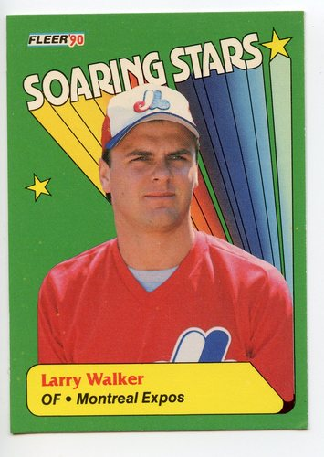 Photo of 1990 Fleer Soaring Stars #3 Larry Walker
