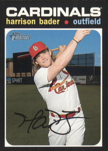 Photo of 2020 Topps Heritage #80 Harrison Bader