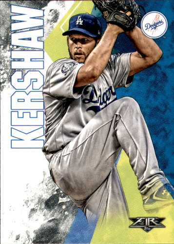 Photo of 2019 Topps Fire #52 Clayton Kershaw