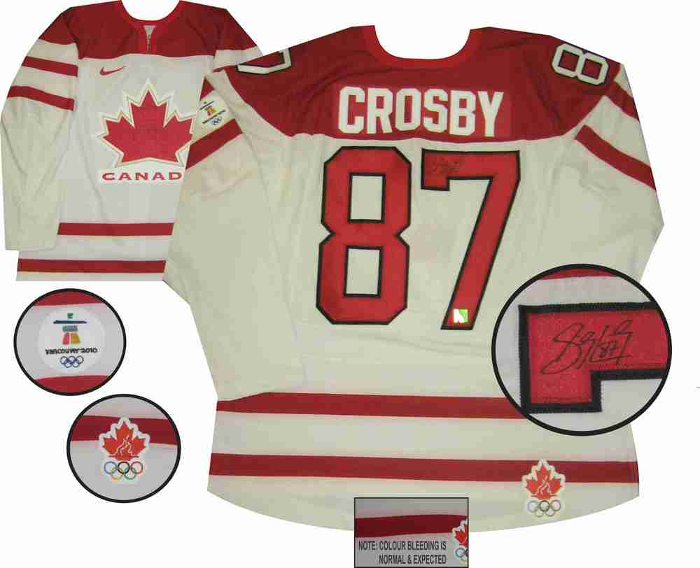 Sidney Crosby - Signed Game Model Team Canada White 2010 Olympics Jersey