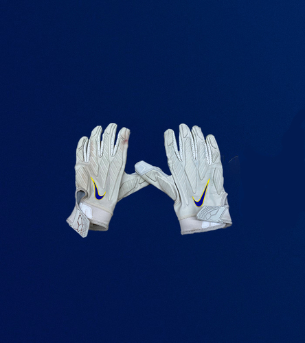 Photo of Aaron Donald Game Used Gloves - (11/23/2020 VS. Tampa Bay Buccaneers)