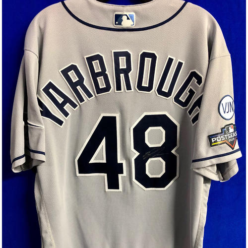 Photo of Team Issued Postseason Autographed Jersey: Ryan Yarbrough
