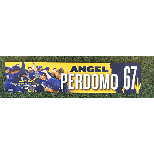 Photo of Angel Perdomo 2019 Team-Issued Spring Training Locker Nameplate