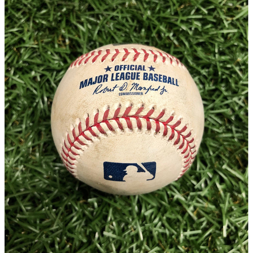 Photo of Opening Day Game Used Baseball: Jalen Beeks strikes out Aledmys Diaz and five pitches to Jake Marisnick - Top 7 - March 28, 2019 v HOU