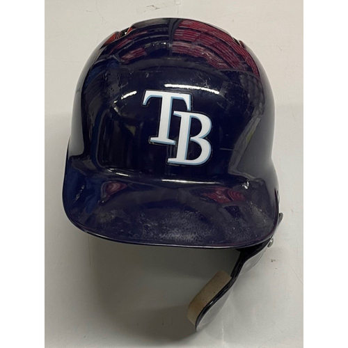 Photo of Rays Baseball Foundation: Game Used Home Run Helmet - Guillermo Heredia - August 21, 2019 v SEA & October 4, 2019 v HOU