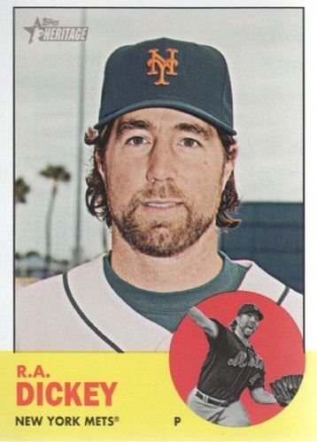 Photo of 2012 Topps Heritage #59 R.A. Dickey