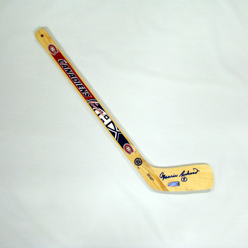 MAURICE RICHARD Signed Mini Stick - Montreal Canadiens