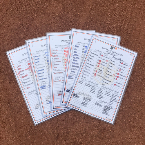 Photo of San Francisco Giants - 2017 Spring Training Lineup Card