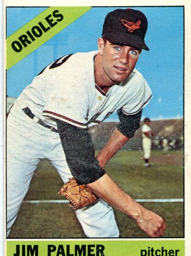 Photo of 1966 Topps #126 Jim Palmer Rookie Card -- Hall of Fame Class of 1990