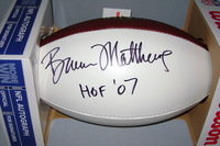 HOF - OILERS BRUCE MATTHEWS SIGNED PANEL BALL
