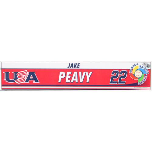 Photo of 2009 WBC: USA Game-Used Locker Name Plate - #22 Jake Peavy