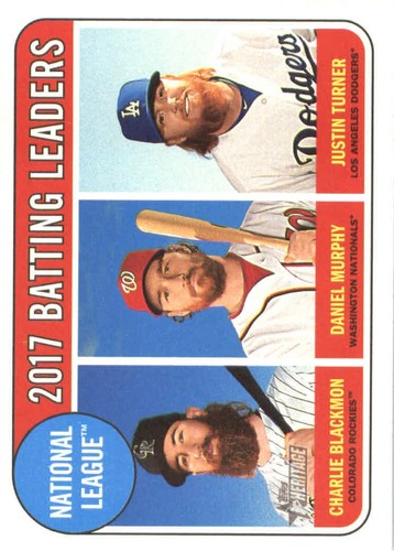 Photo of 2018 Topps Heritage #2 Charlie Blackmon/Justin Turner/Daniel Murphy LL