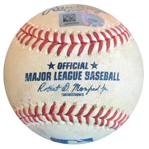 Photo of Game-Used Baseball from Pirates vs. Cubs on 5/29/18 - Jon Lester Single
