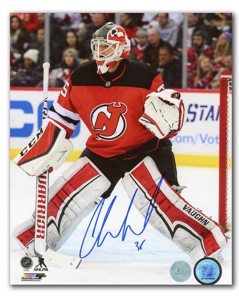 Cory Schneider New Jersey Devils Autographed Hockey Action 8x10 Photo