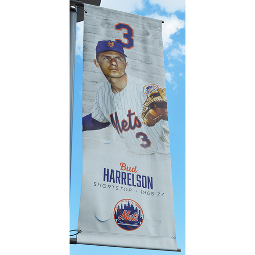 Photo of Bud Harrelson #3 - Citi Field Banner - 2018 Season