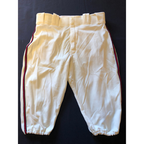 Photo of Derek Dietrich -- Game-Used 1935 Throwback Pants (Pinch Hitter) -- Rangers vs. Reds on June 15, 2019 -- Pants Size 34-40-16