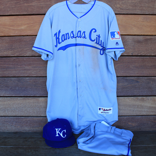 Photo of Game-Used 1969 Throwback Jersey, Pants and Cap: Nicky Lopez (Jersey Size 44 - KC @ WSH  - 7/6/19)