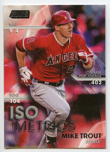 Photo of 2016 Stadium Club ISOmetrics #I2 Mike Trout