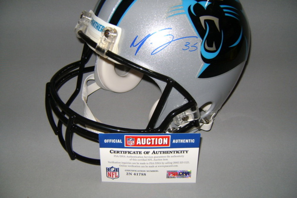 NFL - Panthers Mike Tolbert signed Panthers proline helmet