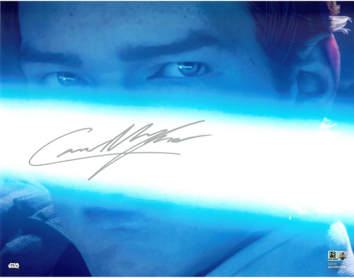 Cameron Monaghan As Cal Kestis 11X14 AUTOGRAPHED IN 'Silver' INK PHOTO