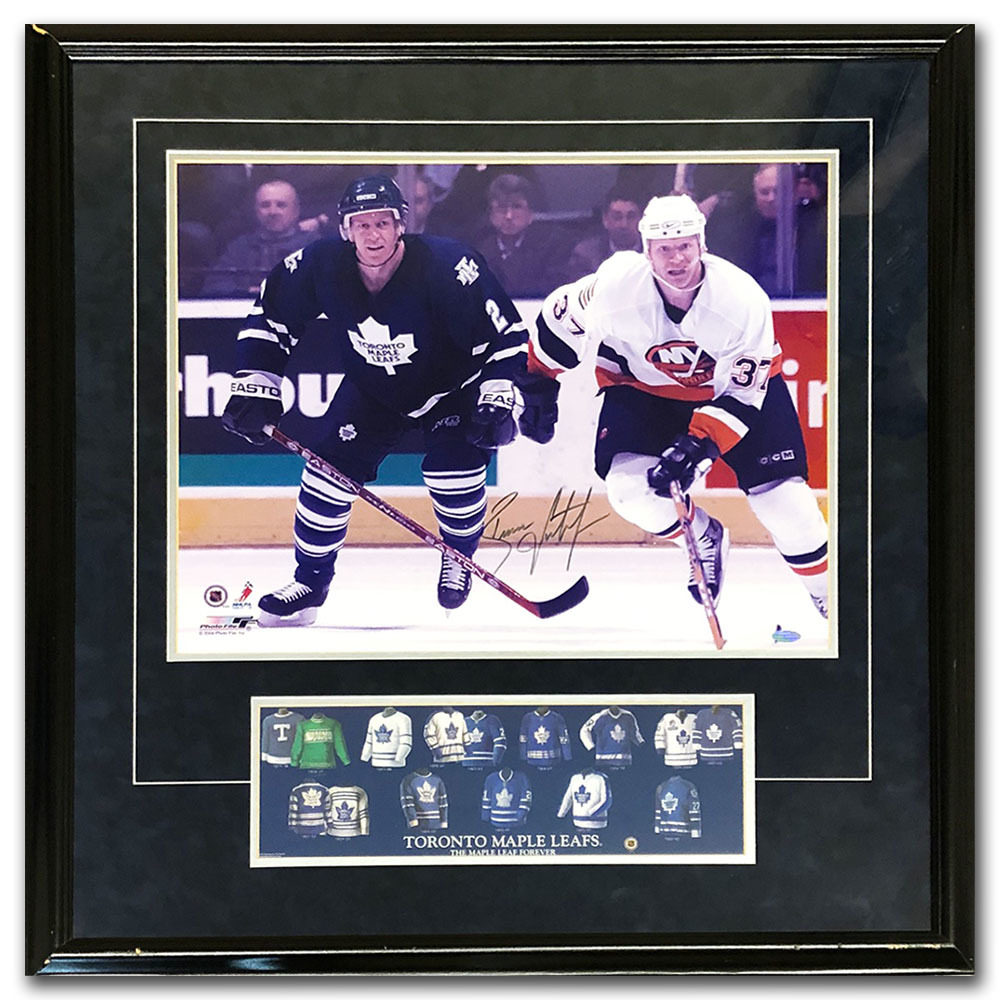 Brian Leetch Autographed Toronto Maple Leafs Framed 16X20 Photo