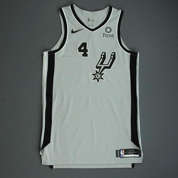 Image of Derrick White - San Antonio Spurs - Game-Worn Statement Edition Jersey - NBA Mexico Games - 2019-20 NBA Season