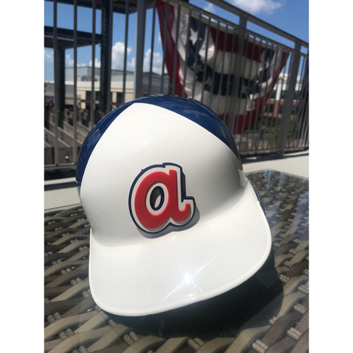 Austin Riley MLB Authenticated Throwback 1974 Game Used Helmet
